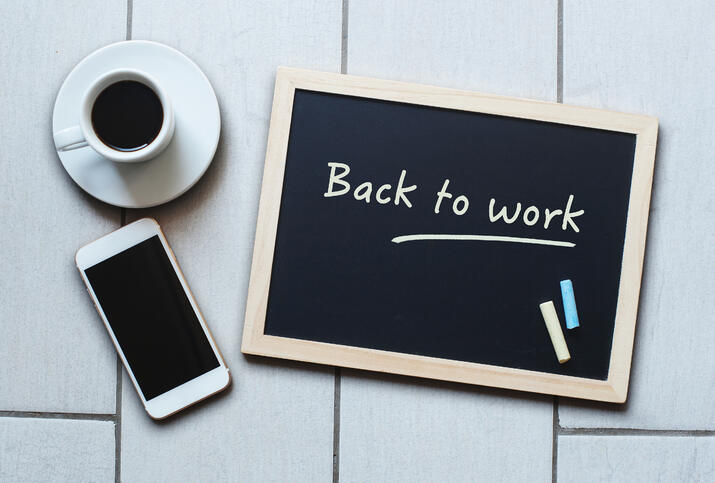 Back to work blog image
